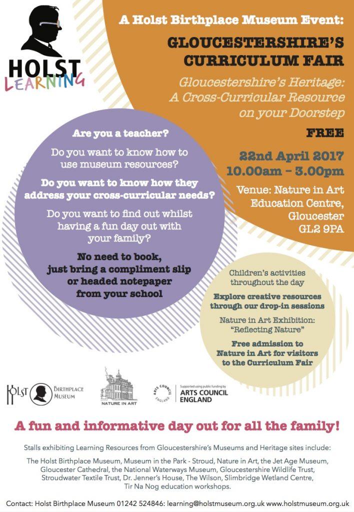 Gloucestershire's Curriculum Fair poster