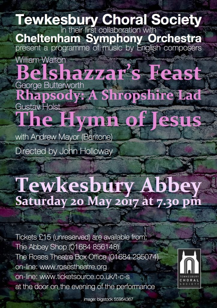 Tewkesbury Choral Society poster