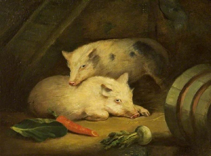 """Pigs"" by George Morland"