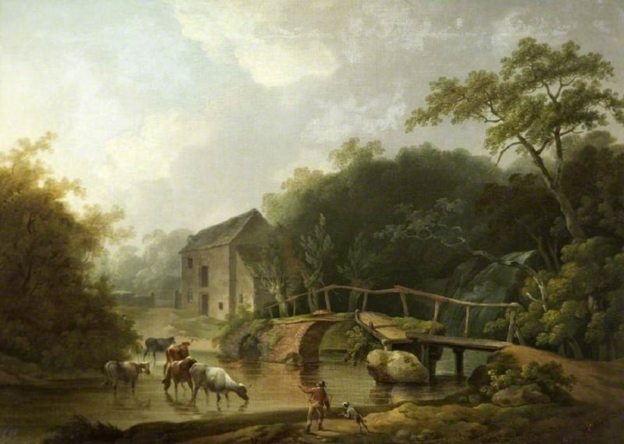 Painting of Alston Bridge